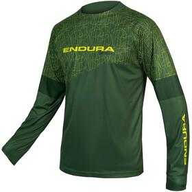 Endura MT500 Print Fietsshirt lange mouwen Heren groen